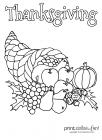 Cornucopia coloring pages