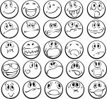 Emotional faces coloring pages