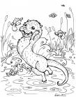 Otter coloring pages