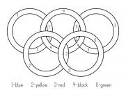 Olympic circles coloring pages