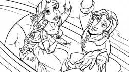 Rapunzel coloring pages