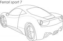 Ferrari coloring pages