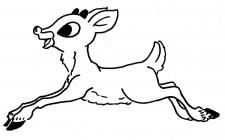 Baby reindeer coloring pages