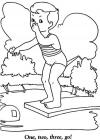 Summer pool coloring pages