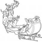 Santa in sleigh coloring pages