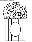 Popcorn coloring pages