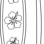 Surfboard coloring pages