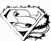 superman logo printable coloring pages | Superman logo coloring pages to download and print for free