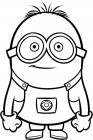 Vampire minion coloring pages