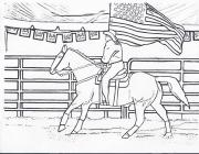Cowgirls and horses coloring pages