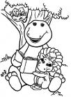 Baby bop coloring pages