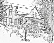 Victorian houses coloring pages