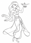 Jasmine coloring pages