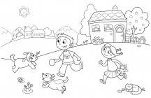 Kindergarten coloring pages