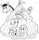 Circus coloring pages