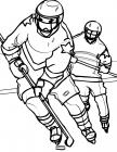 Winter sports coloring pages