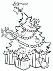 Christmas decoration coloring pages