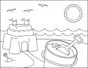 Family fun summer coloring pages