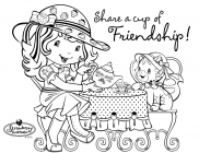 Strawberry shortcake valentine coloring pages