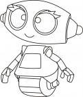 Little robots coloring pages