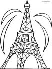 Paris eiffel tower coloring pages