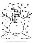 Snowman coloring pages