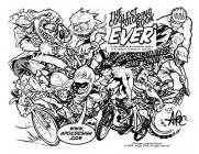Motocross coloring pages