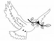 Dove of peace coloring pages