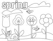 Great spring coloring pages