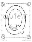 Letter q coloring pages