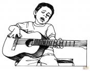 Guitar coloring pages