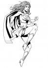 Supergirl coloring pages