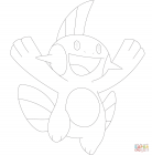 Pokemon swampert coloring pages