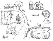 Farmer coloring pages