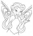 Disney fairy silvermist coloring pages