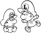 Mario bros coloring pages