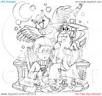 Wizard coloring pages
