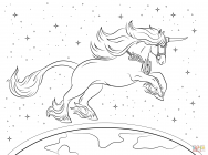 Realistic unicorn coloring pages