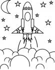 Rocket coloring pages