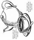 Decorative teapot coloring pages