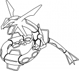 Rayquaza coloring pages