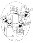 Five Nights at Freddy's coloring pages