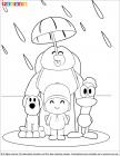 Pocoyo coloring pages