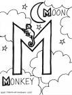 Letter m coloring pages