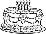 Cake coloring pages