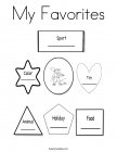 All about me coloring pages