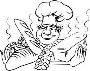 Cook coloring pages