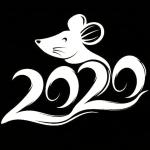 Stencil new year 2020 Coloring Pages