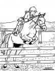 Horse riding coloring pages