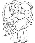 Happy girl coloring pages